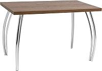 Обеденный стол Signal SK-2 (орех/хром) -