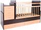 Детская кровать-трансформер Bambini М.01.10.01 (темный орех/натуральный) -