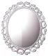 Зеркало для ванной Belux Лувр В80 (белый) -