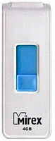 Usb flash накопитель Mirex Shot White 4GB / 13600-FMUWST04 -