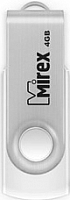 Usb flash накопитель Mirex Swivel White 4GB / 13600-FMUSWT04 -