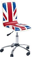 Кресло офисное Halmar Fun 10 (синий/красный) -