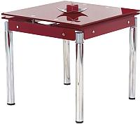 Обеденный стол Halmar Kent (красный/хром) -