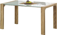 Обеденный стол Halmar Kevin (белый/дуб сонома) -