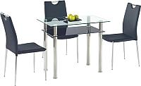 Обеденный стол Halmar Lester 90 (прозрачный/черный) -