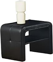 Прикроватная тумба Halmar Sara (черный/ткань Deluxe 113) -