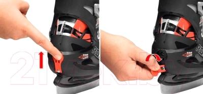 Коньки раздвижные Roces Swish 1 Boy 450629 (размер 36-40) - регулировка размера (пример)