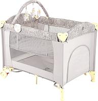 Кровать-манеж Happy Baby Lagoon V2 (бежевый) -