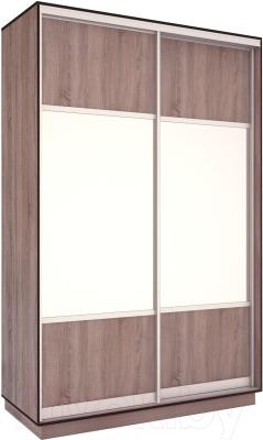 Шкаф Евва 144 TS.01 / АЭП ШК.2 02 (трюфель/серебро)