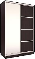 Шкаф Евва 144 VS.02 / АЭП ШК.2 02 (венге/серебро) -