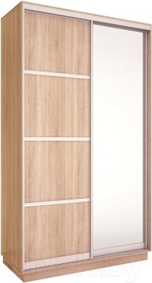 Шкаф Евва 126 SS.02 / АЭП ШК.2 03 (сонома/серебро)