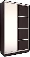 Шкаф Евва 126 VS.02 / АЭП ШК.2 03 (венге/серебро) -