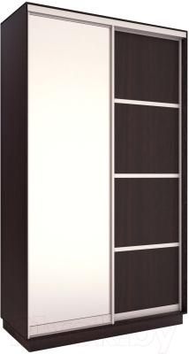Шкаф Евва 126 VS.02 / АЭП ШК.2 03 (венге/серебро)