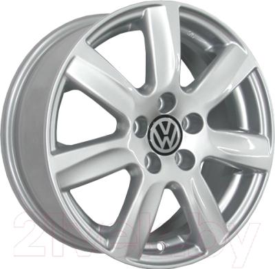 Литой диск KnK VW (КС585) 6x15 5x100мм DIA 57.1мм ET 40 мм (серебристый)