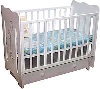 Детская кроватка Laluca Руслана Премиум (белый/жирафик) -