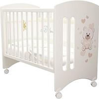 Детская кроватка Laluca Софи Базовая (белый/мишка) -