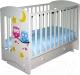 Детская кроватка Laluca Софи Премиум (белый/совята) -
