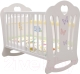 Детская кроватка Laluca Шарлотта Базовая (белый/бабочки) -