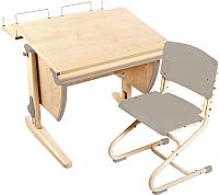 Парта+стул Дэми СУТ 14-01 (бежевый, клен) -
