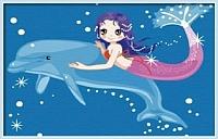 Картина по номерам Menglei Дельфин и русалка (MC031) -