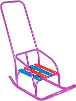 Санки детские Скользяшки Кукольные-1 (фиолетовый) -