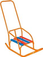 Санки детские Скользяшки Кукольные-1 (оранжевый) -
