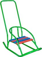 Санки детские Скользяшки Кукольные-2 (зеленый) -