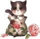 Картина по номерам Menglei Котенок в вазе (MB057) -