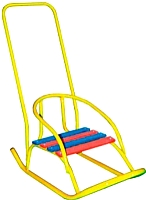 Санки детские Скользяшки Кукольные-2 (желтый) -