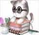 Картина по номерам Menglei Котенок знайка (MB056) -