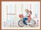 Картина по номерам Menglei Прогулка на велосипеде (ME030) -