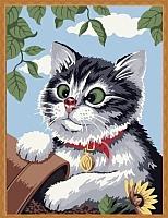 Картина по номерам Menglei Любопытный котёнок (ME085) -