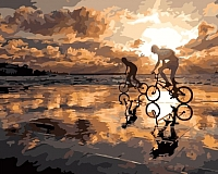 Картина по номерам Menglei Велопробег на закате (MG553) -