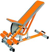 Скамья многофункциональная Формула здоровья Аванта (оранжевый/серебристый) -