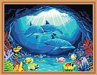 Картина по номерам Menglei Дельфины (MG173) -