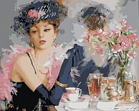 Картина по номерам Menglei За чашкой чая (MG275) -