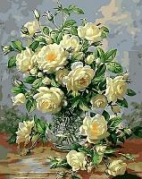 Картина по номерам Menglei Букет белых роз (MG612) -