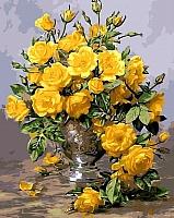 Картина по номерам Menglei Букет желтых роз (MG613) -