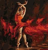 Картина по номерам Menglei В огненном танце (MG523) -
