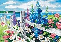 Картина по номерам Menglei Цветочная изгородь (MG184) -