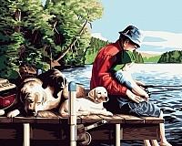 Картина по номерам Picasso С отцом на рыбалке (PC4050029) -