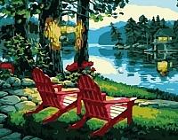 Картина по номерам Picasso Рассвет на реке (PC4050075) -