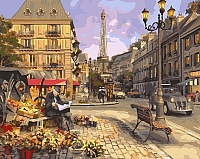 Картина по номерам Picasso Цветочная лавка Парижа (PC4050127) -