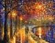 Картина по номерам Picasso Прогулка под фонарями (PC4050136) -