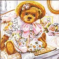Картина по номерам Truehearted Нарядный мишка (HB2020080) -