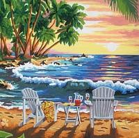 Картина по номерам Truehearted Закат на острове (HB2525001) -
