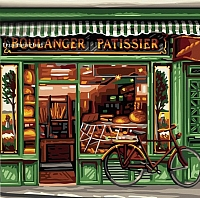 Картина по номерам Truehearted Французская пекарня (HB2525007) -