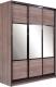 Шкаф Евва 18 TTG.01 / АЭП ШК.3 03 (трюфель/венге глянец) -