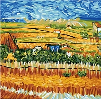 Картина по номерам Truehearted Пейзаж с голубой повозкой (HB4040019) -