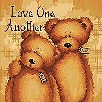 Картина по номерам Truehearted Любите друг друга (HB4040043) -